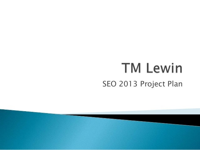 SEO 2013 Project Plan