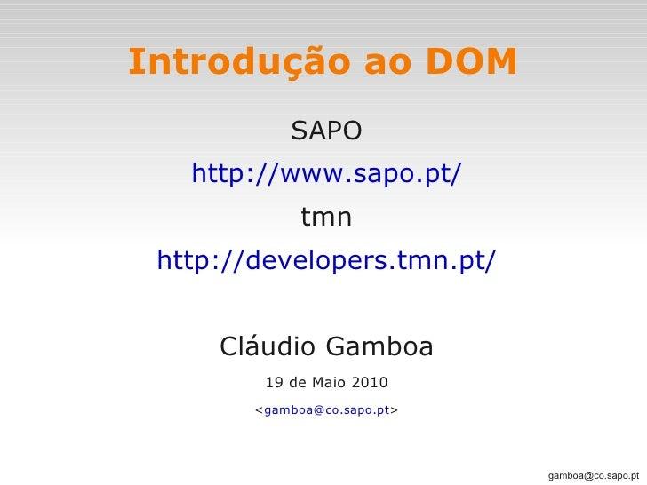 tmn - Introdução ao DOM