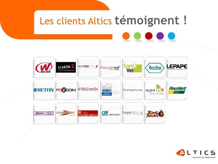 Les clients Altics   témoignent !     1