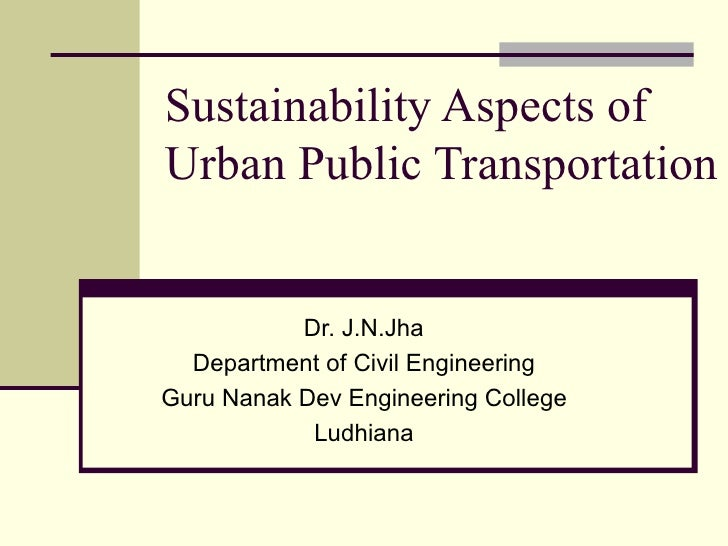 Sustainability in Transport Sector