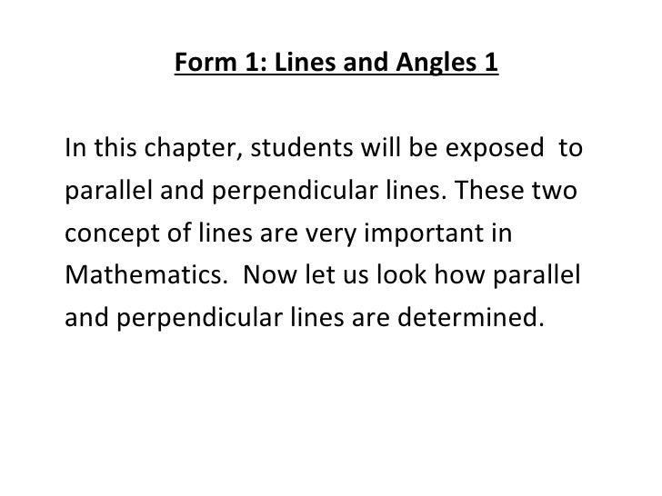 Line & Angles