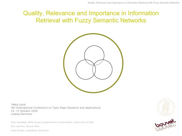 Quality, Relevance and Importance in Information Retrieval with Fuzzy Semantic Networks TMRA 2008  4th International Confe...