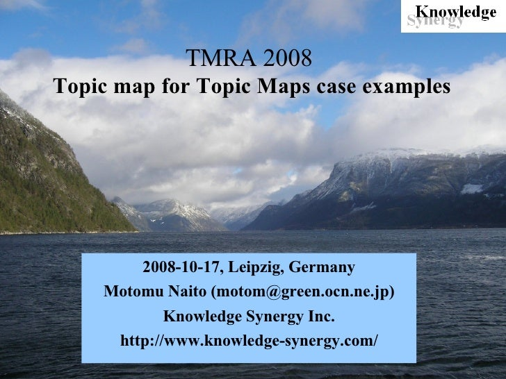 Topic map for Topic Maps case examples