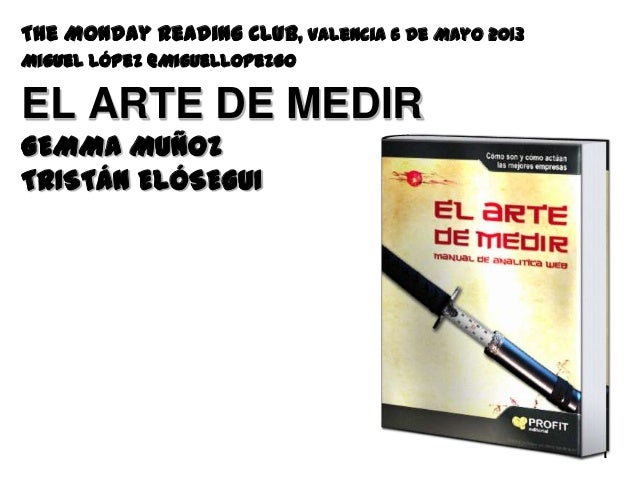 Libro: El Arte de Medir. Presentación en The Monday Reading Club Valencia