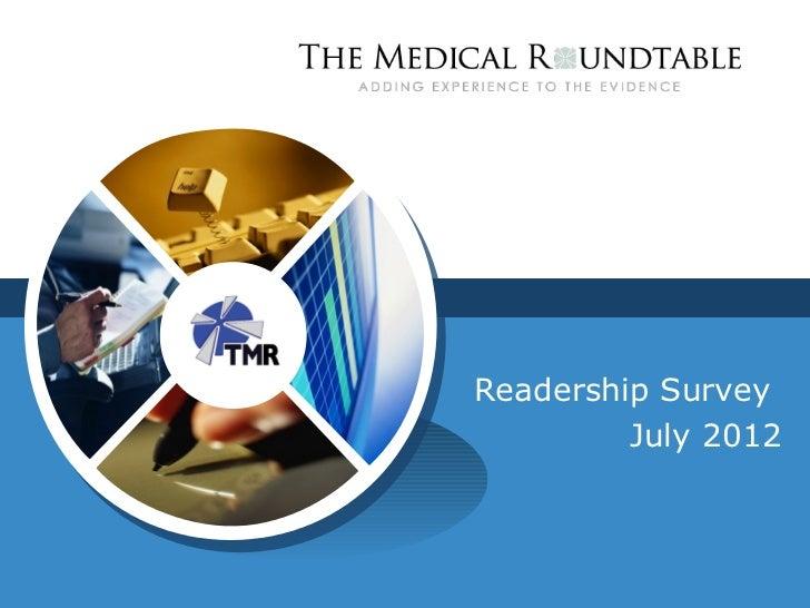 Readership Survey         July 2012