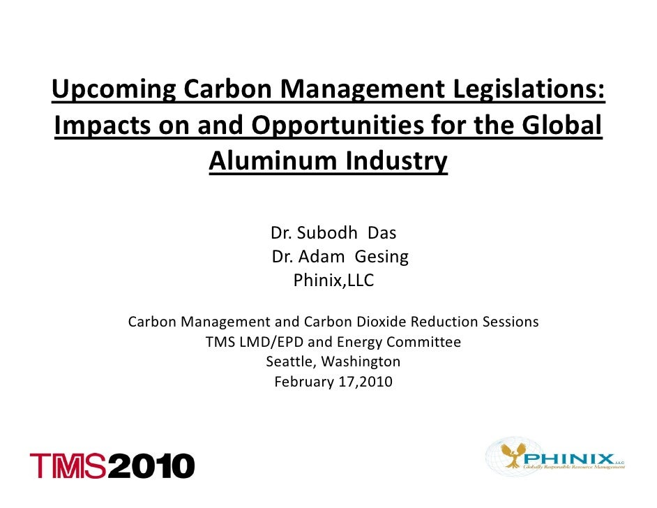 UpcomingCarbonManagementLegislations: Upcoming Carbon Management Legislations: ImpactsonandOpportunitiesfortheGl...