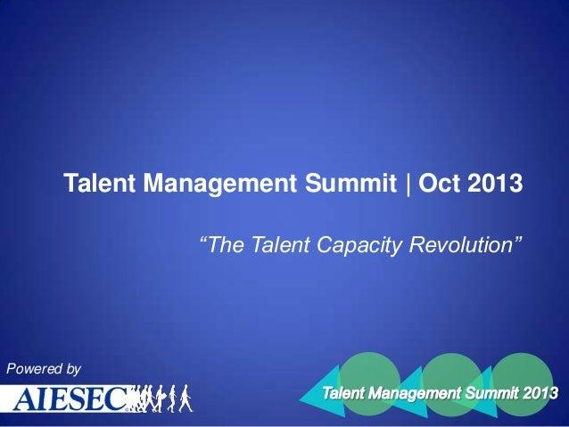 AIESEC Singapore | Talent Management Summit (Oct 2013)