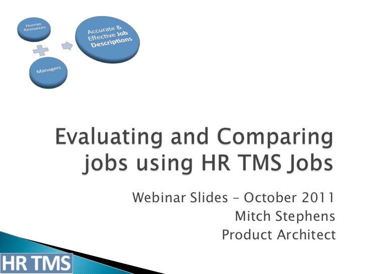 Webinar Slides – October 2011               Mitch Stephens             Product Architect