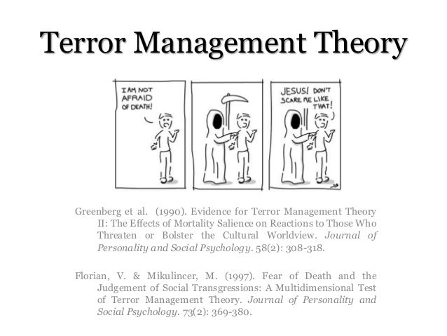 an overview of the terror management theory How death awareness can help us make conscious choices to live more fully by lisa firestone phd how despair about our changing climate may get in the way of fixing it by emily green psyd get.