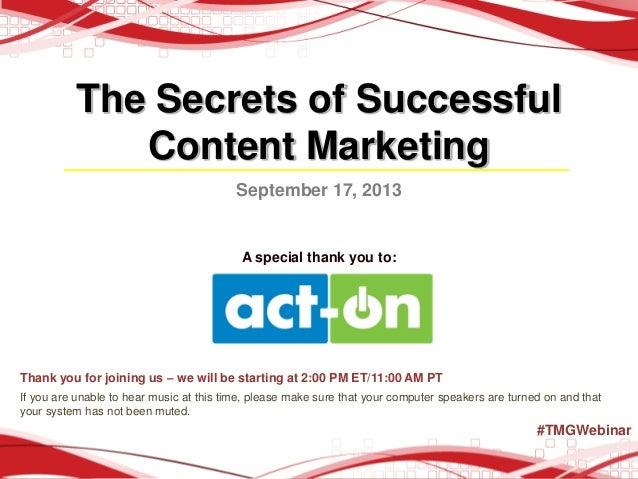The Secrets of Successful Content Marketing