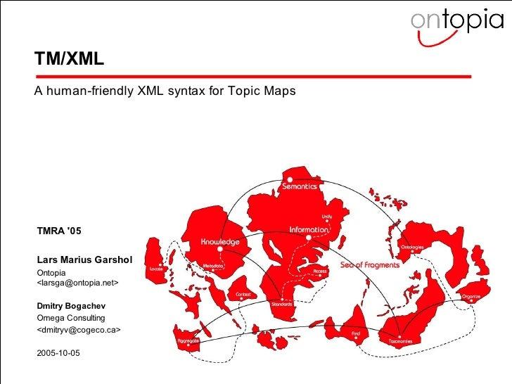TM/XML - Representing Topic Maps in XML