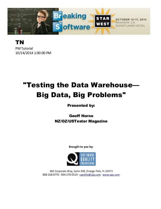 phd thesis on data warehousing