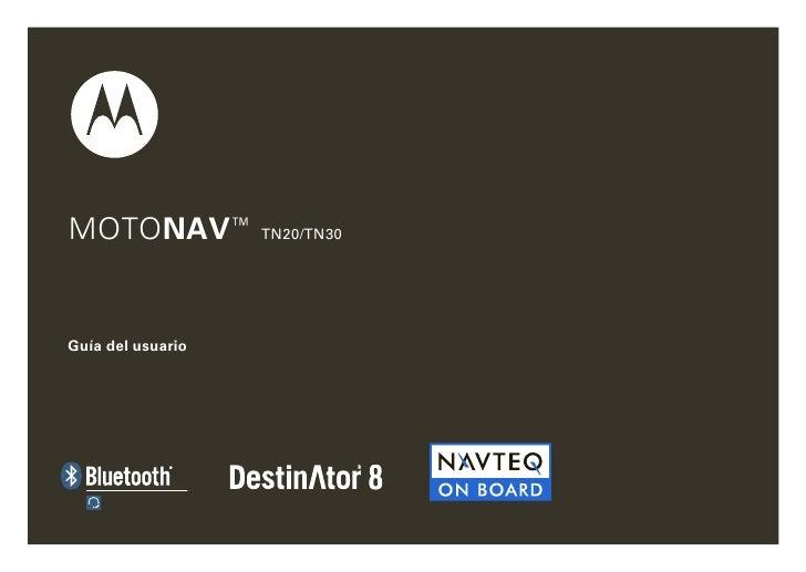 MOTONAV™ TN20/TN30   Guía del usuario