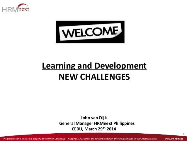 Learning and Development Challenges