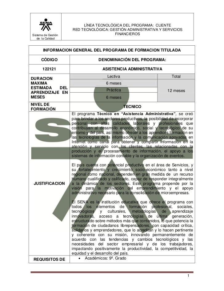 LÍNEA TECNOLÓGICA DEL PROGRAMA: CLIENTE                     RED TECNOLÓGICA: GESTIÓN ADMINISTRATIVA Y SERVICIOSSistema de ...