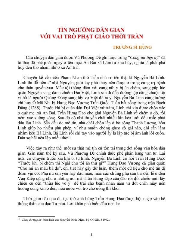 Tín ngưỡng dân gian với vai trò phật giáo thời Trần - vanhien.vn