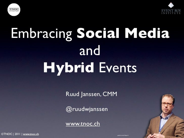 Embracing Social Media + Hybrid Event Strategy webinar ROIweek 2011 by TNOC Ruud Janssen