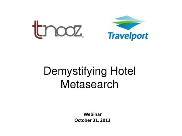 Demystifying hotel metasearch