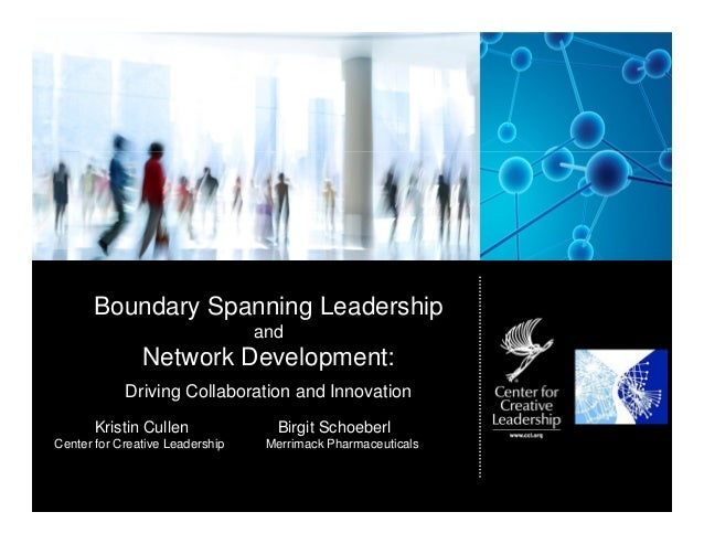 Boundary Spanning Leadership                                 and               Network Development:            Driving Col...