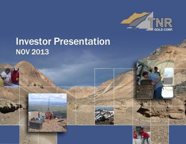 Investor Presentation NOV 2013