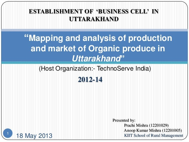 """Mapping and analysis of production and market of Organic produce in Uttarakhand"""