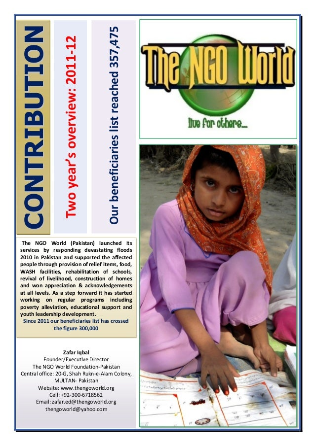 CONTRIBUTION                                                  Our beneficiaries list reached 357,475                   Two...