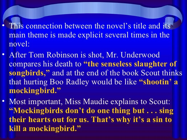 to kill a mocking bird theme The main themes of the book to kill a mockingbird by harper lee, including  prejudice, racism, justice and courage.