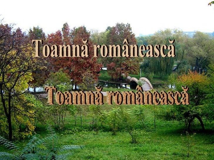 Toamnă românească Toamnă românească Toamnă românească