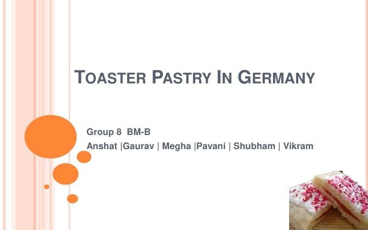 Toaster pastries  8 b