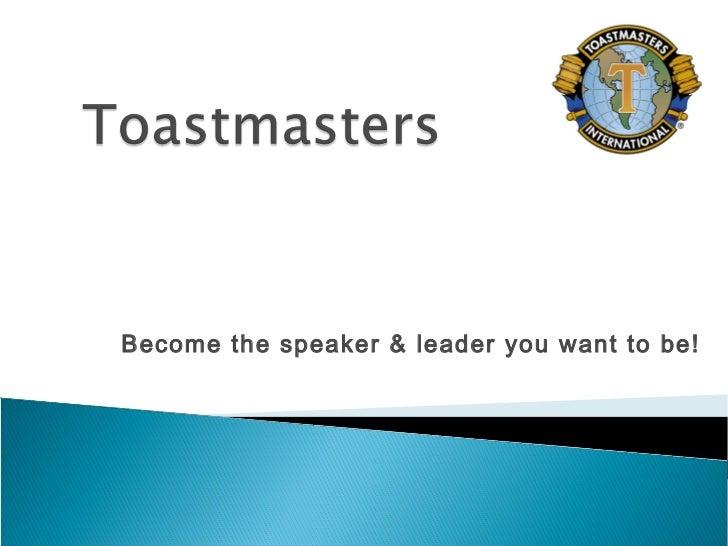 Toastmasters Presentation
