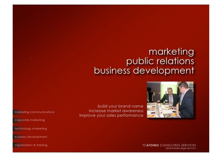 TO ATOMO Consulting Services presentation