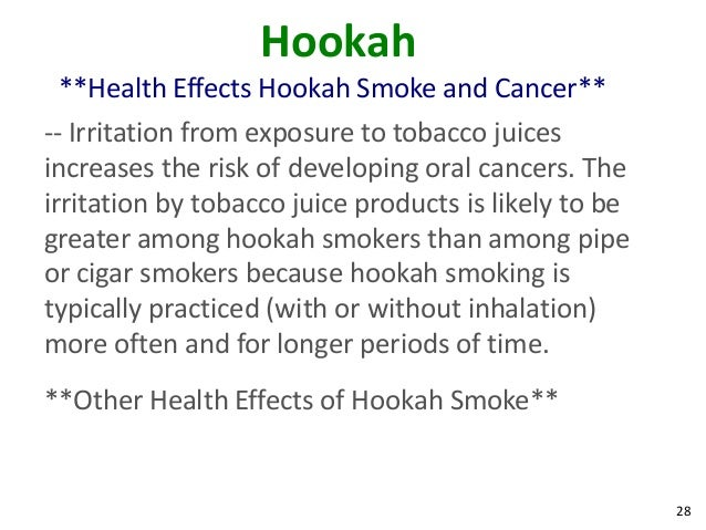 effects of hookah