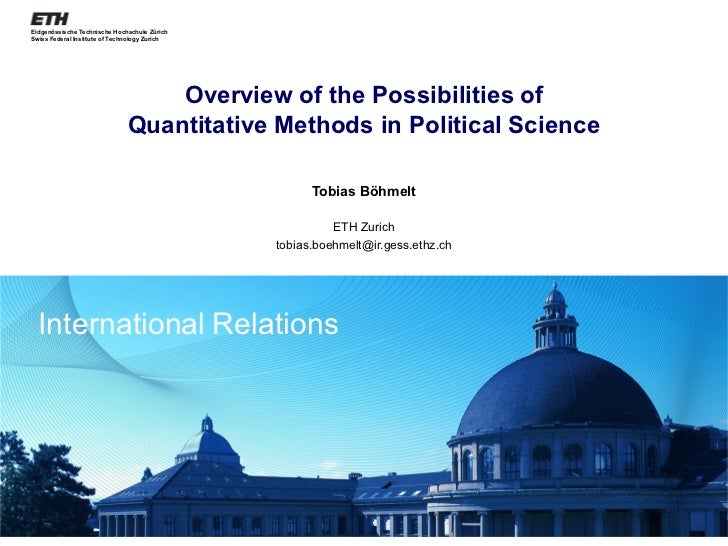 Overview of the Possibilities of Quantitative Methods in Political Science