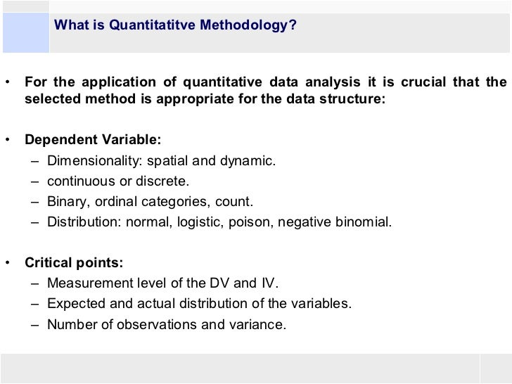 quantitative data/essays Qualitative research essays: discretization is a process that transforms data containing a quantitative attribute so that the attribute in question is replaced.