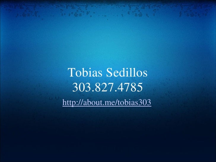 Tobias Sedillos Video Business Card