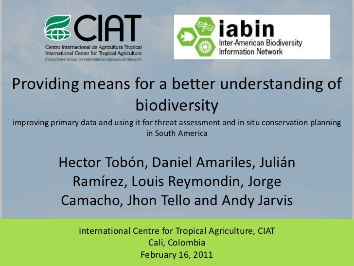 IABIN tools project on mapping biodiversity in Latin America