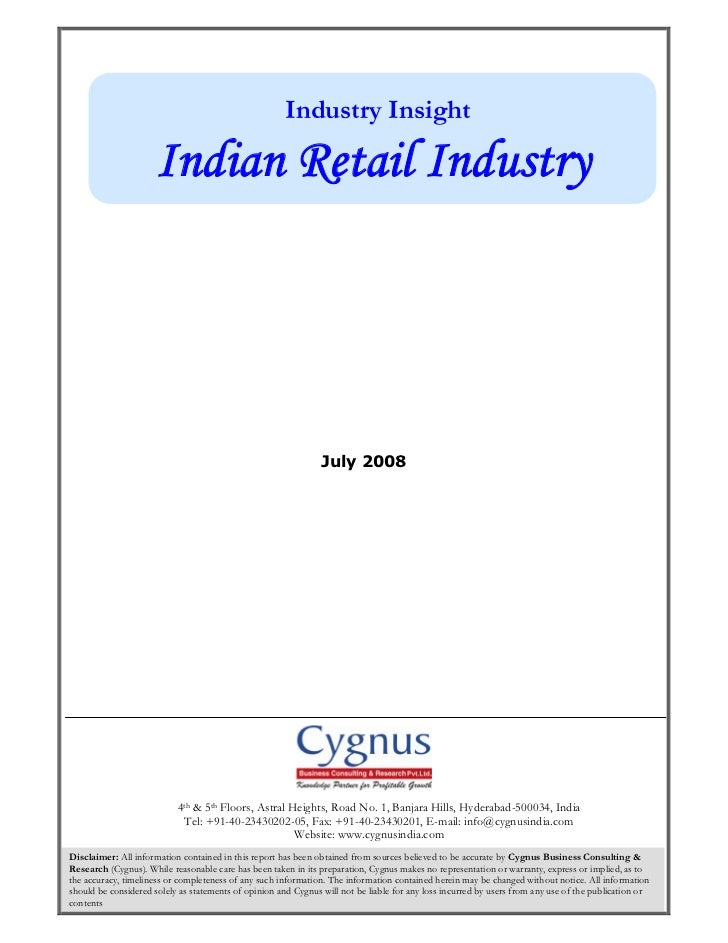 Industry Insight                     Indian Retail Industry                                                               ...