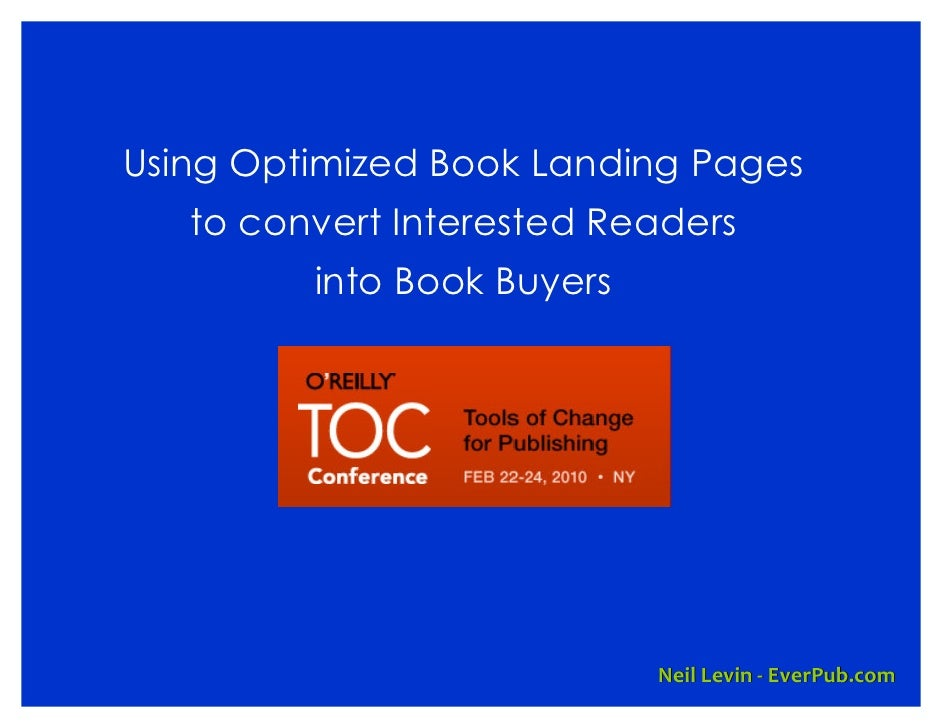 Using Optimized Book Landing Pages    to convert Interested Readers          into Book Buyers                             ...
