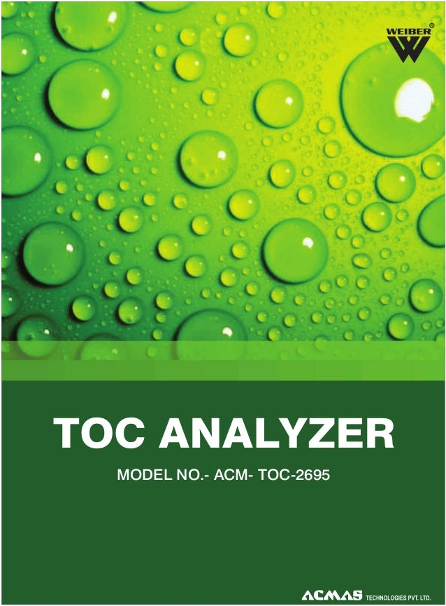 R  TOC ANALYZER MODEL NO.- ACM- TOC-2695
