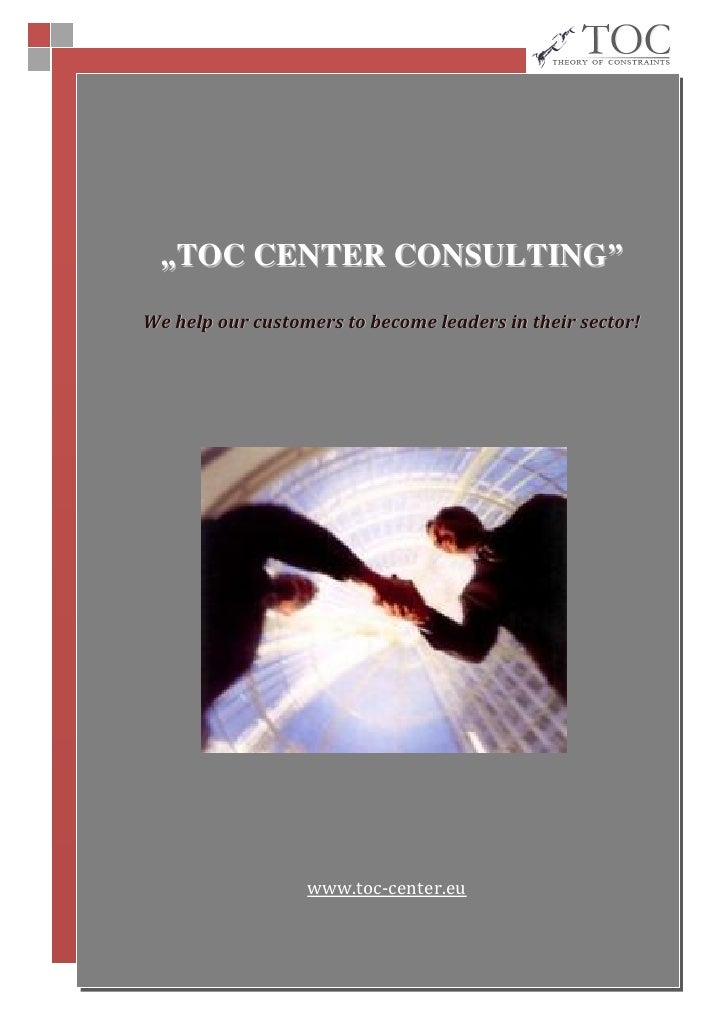 """TOC CENTER CONSULTING"" We help our customers to become leaders in their sector!                       www.toc-center.eu  ..."