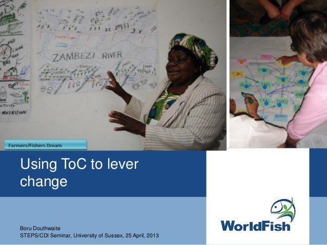 Using Theory of Change to Lever Change: Experience from the CGIAR