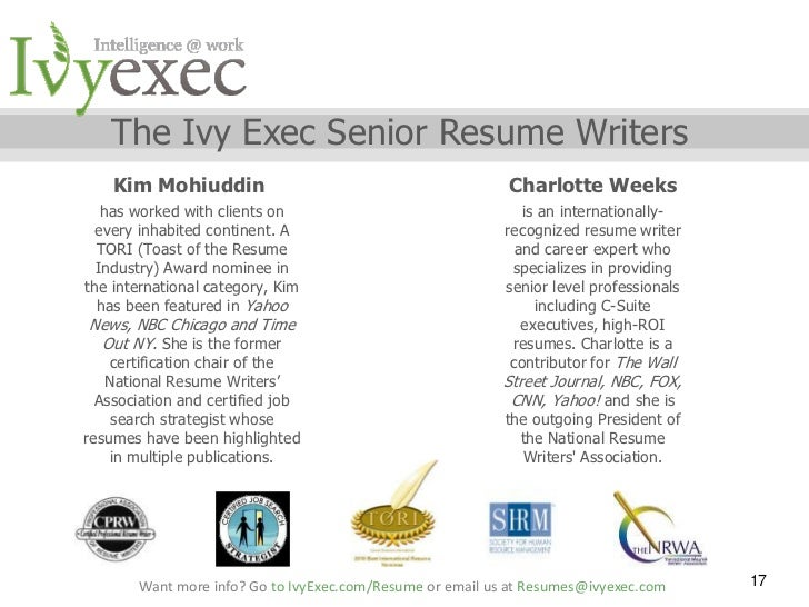 Award Winning Executive Resume Writer and Executive Career Coach itouch resume writers
