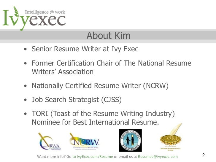 Certified Professional Resume Writer Los Angel