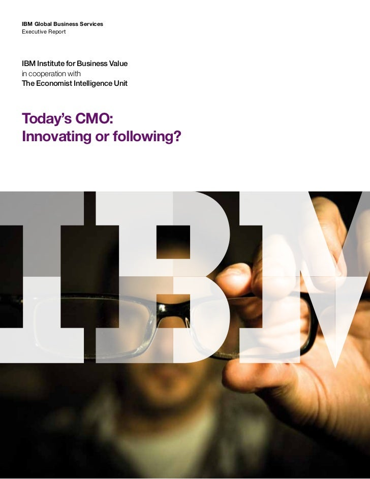 Today's cmo  innovating or following