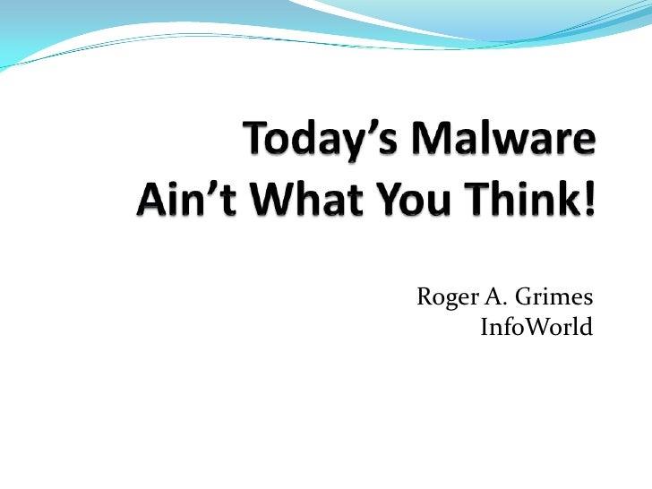 Roger A. Grimes InfoWorld