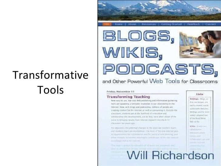 Today'S Tools Blogs, Wikis Podcasts