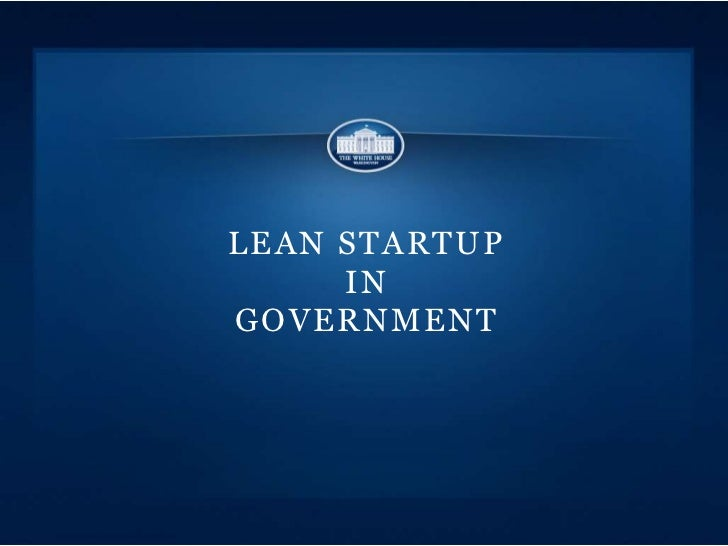 LEAN STARTUP     INGOVERNMENT