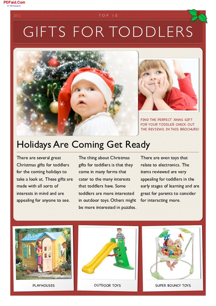Gifts for Toddlers at Christmas