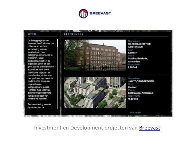 Investment en Development projecten van Breevast