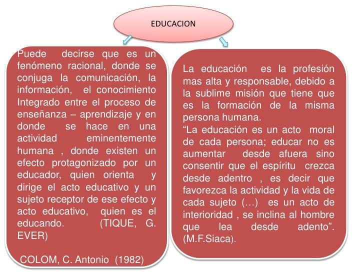 Todo la informacion sobre el proceso educativo